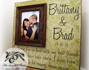 Wedding Gift, Personalized Picture Frame, 16x16 The Sugared Plums Frames