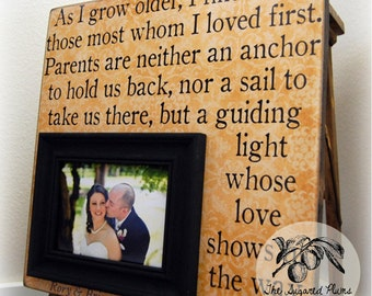 Parent Gifts For Wedding Personalized Picture Frame 16x16 As I Grow Older Wedding Love Anniversary Father Mother of