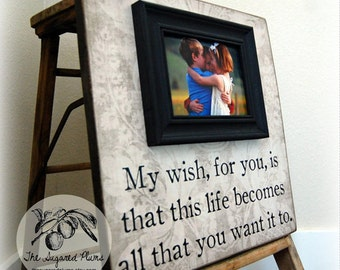 BABY PICTURE FRAME Personalized Custom Picture Frame 16x16 My Wish For You Baby Shower Baptism Christening First Birthday Gift Godparents