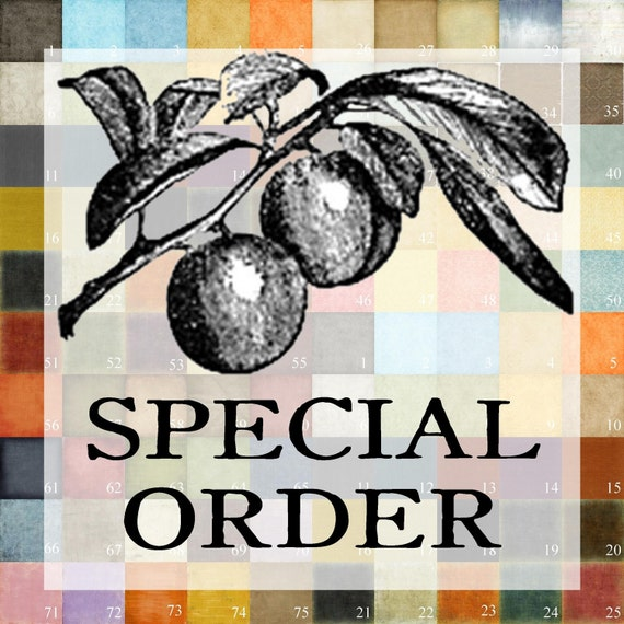 SPECIAL ORDER Patty