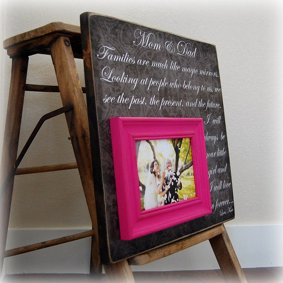 Personalized picture frame custom wedding gift 16x16 mom and for Gifts for parents on anniversary