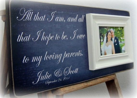 Wedding Gifts To Parents From Bride And Groom: Parents Of The Bride Gift Parents Of The Groom By