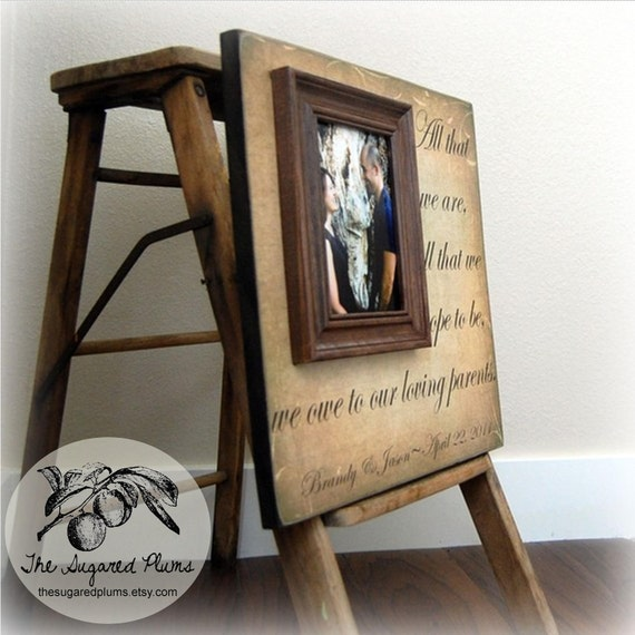 Wedding Gifts For Parents : Wedding Gifts For Parents Personalized Picture Frame Custom 16x16 -All ...