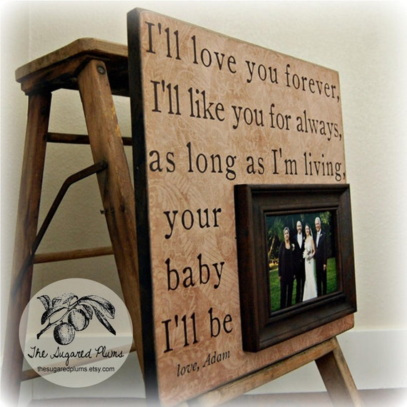 Father Of The Bride Gift, Daughter to Father Gift, Personalized Picture Frame, I'll Love You Forever 16x16 The Sugared Plums Framess