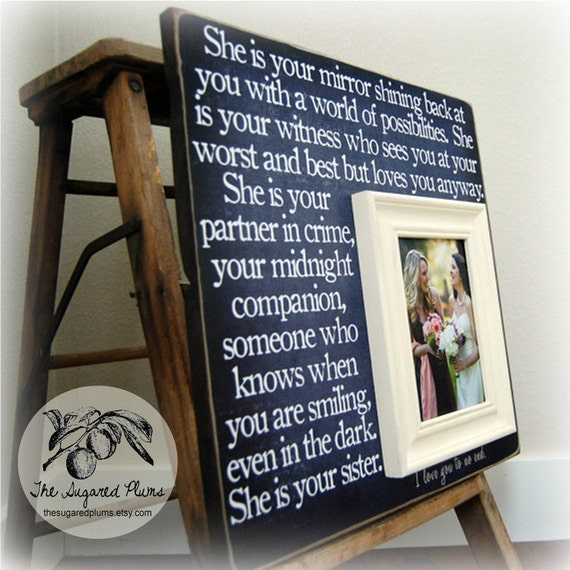 1 Year Wedding Anniversary Gift From Maid Of Honor : Maid of Honor Gift Bridesmaid Gift Bridesmaid by thesugaredplums