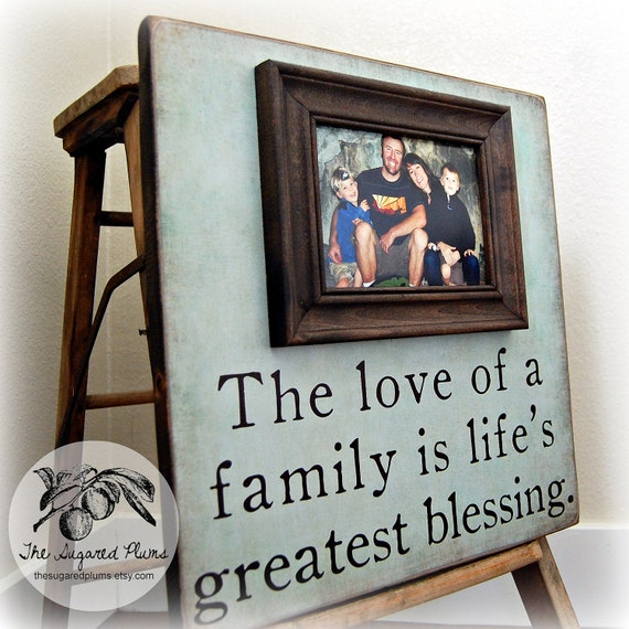 Personalized Family Name Sign Established Picture Frame Wedding Gift Custom 16x16 LOVE OF A FAMILY Anniversary Father Mother Parents