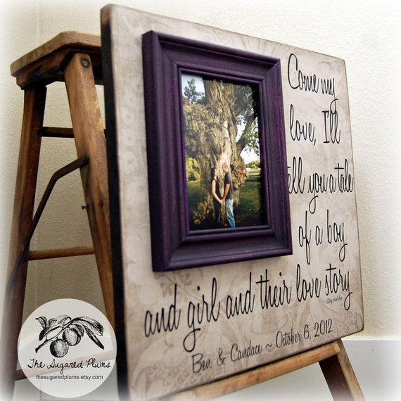 Wedding Gifts Picture Frames : Valentines Day, Wedding Gift Picture Frame 16x16 STORY BOOK LOVE ...