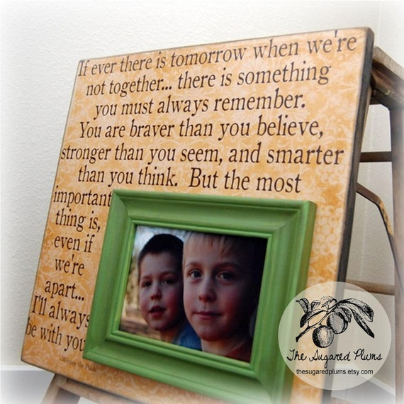 Baby Gift For Baby Personalized Picture Frame Custom 16x16 WINNIE THE POOH Baptism Christening First Birthday Gift Godparents