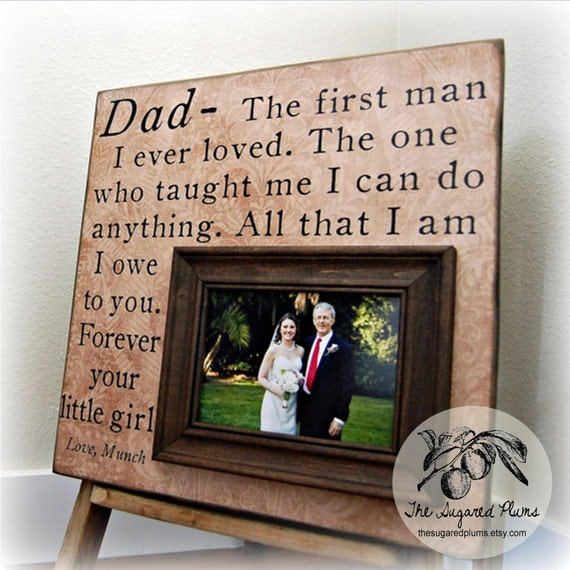Father of the Bride Parents Thank You Gift Personalized Picture Frame ...