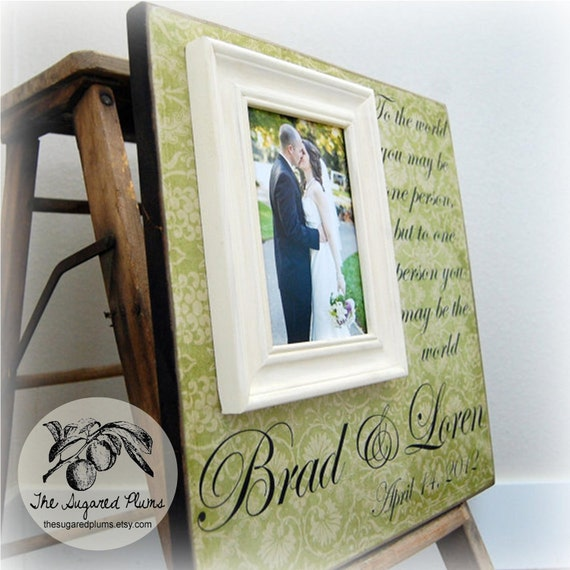 Wedding Gift Personalized Picture Frame : Engagement Gift, Wedding Present, Personalized Picture Frame 16x16 TO ...
