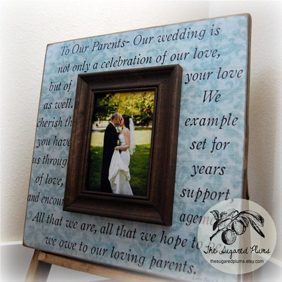 Parents gift personalized picture frame wedding gift custom for Best gifts for parents for wedding