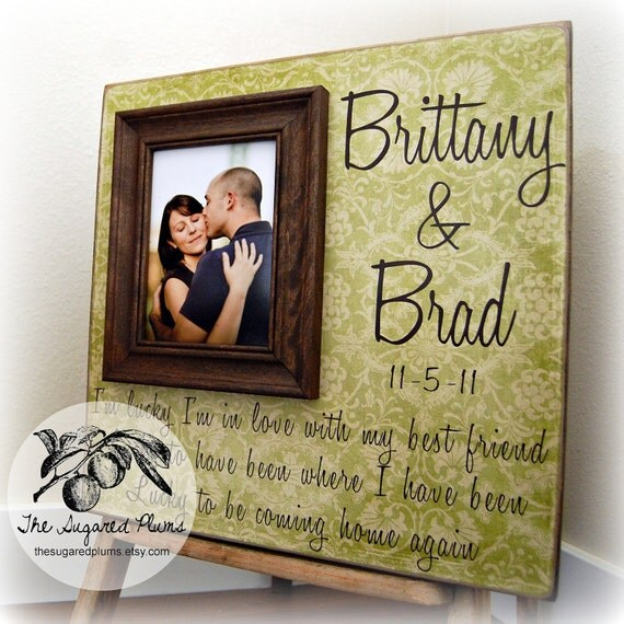 Personalized Picture Frame Wedding Gift Custom 16x16 Anniversary Love Father Mother Parents Shower Quote Thank You Song Vows Guest Book