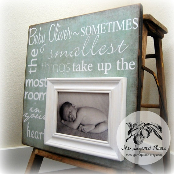 Personalized Baby Boy Picture Frame, Baby Gift, Personalized Baby Picture Frame 16x16