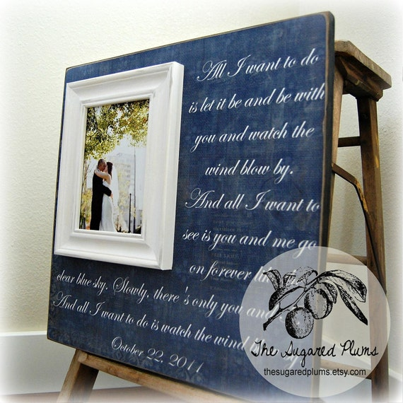 Wedding Gifts Picture Frames : Wedding Gift Personalized Picture Frame 16x16 ALL I WANT to do Wedding ...