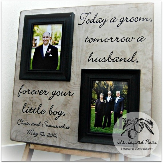 Wedding Frame 20x20 Today a Bride Tomorrow A Wife Parent Thank You Gift
