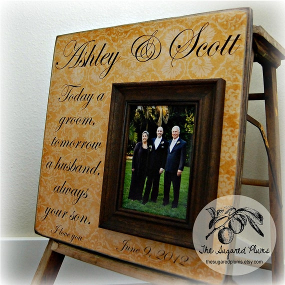 Mother of the Groom Gift Parents Thank You Gift Wedding Gift Personalized Picture Frame, 16x16  Today a Groom