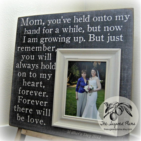 Mother of the Bride Gift, Mother in Law Gift, Mothers Day Frame, Personalized Picture Frames, Wedding Gifts for Parents, Gift for Mom 16x16