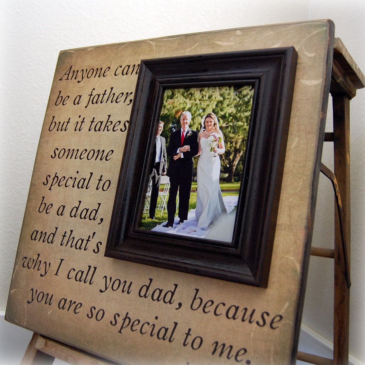 Father Of The Bride Custom Wedding Gift Personalized Picture