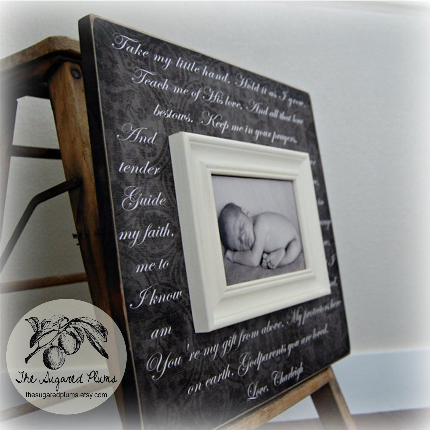 Baptism Gift for GODPARENTS Personalized by thesugaredplums
