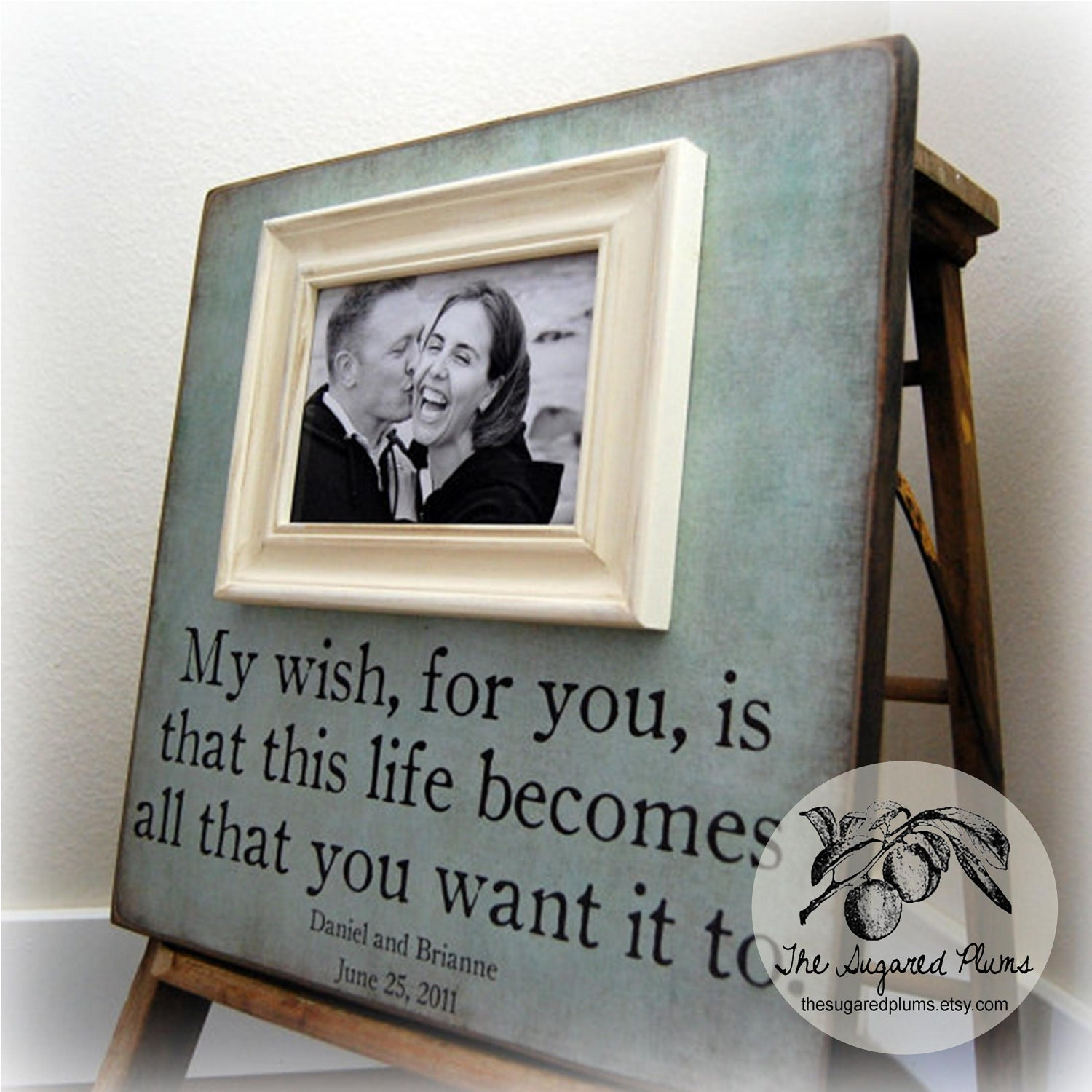 Wedding Gifts For Parents Who Have Everything : Picture Frame Personalized Picture Frames by thesugaredplums