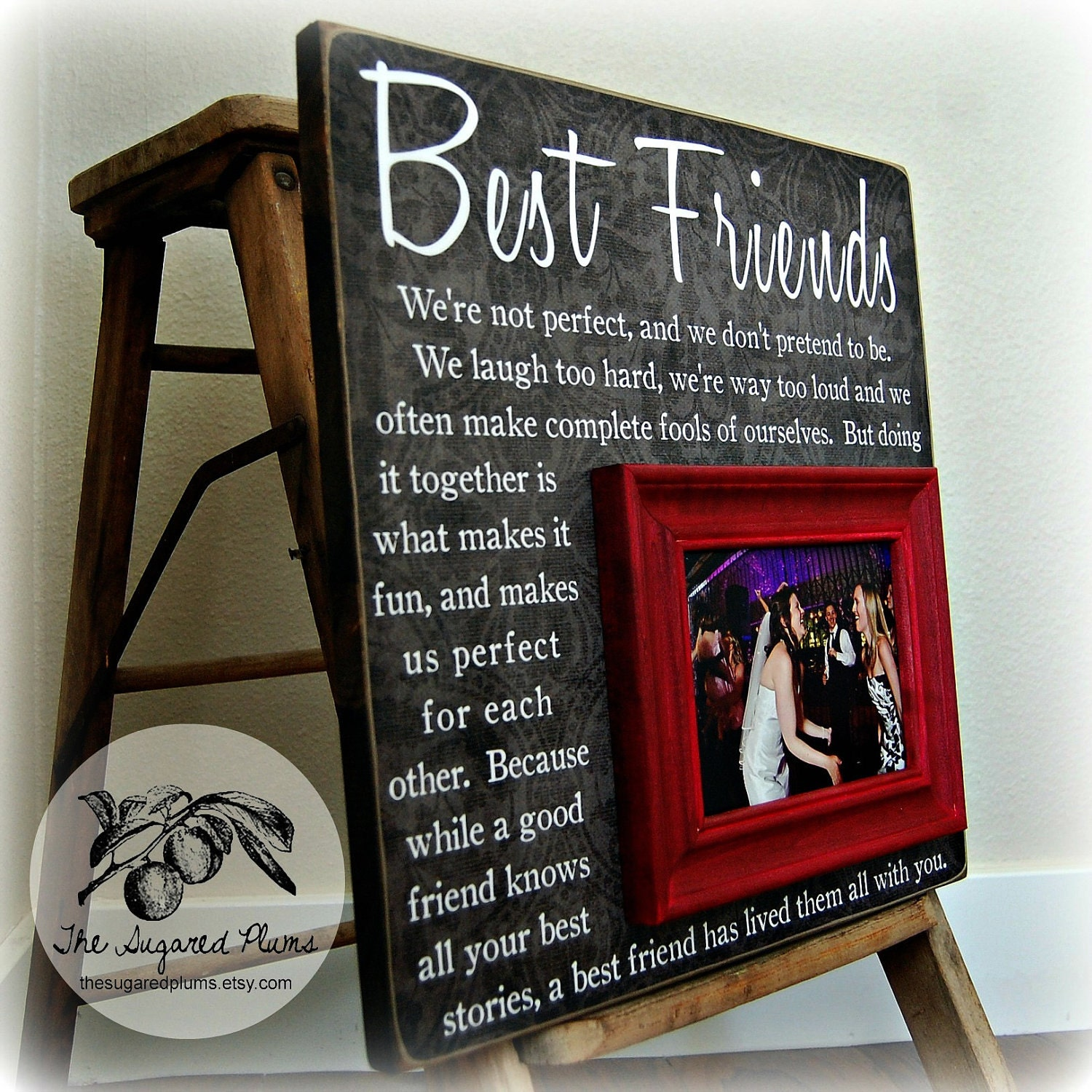 Best friend gift sister gift bridesmaid gift girlfriends for Best friend anniversary gift ideas