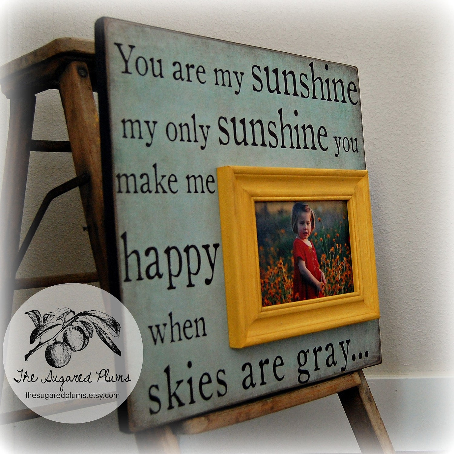 Just Had A Baby Gift Ideas : Baby shower decoration you are my sunshine personalized