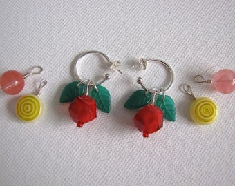 Fruit of the Month Interchangeable Hoop Earring Set
