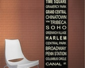 Personalized Bus Roll / Tram / Subway Scroll - Canvas 20 x 60