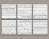 Wedding Lyrics Canvas Art Giclee - 6 Panel