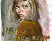 Happy birthday, Faye Dunaway - original artwork