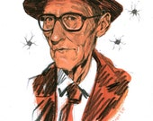Happy birthday, William Burroughs - original artwork
