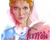Happy birthday, Mia Farrow - original artwork