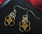 Gold Filled Knot Earrings with Sterling
