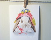 Bunny's Brand New Bonnet Note Cards - Set of 10 Cards with Envelopes