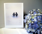Peace, Love, and Penguins Note Cards - Set of 5 Cards with Envelopes - Valentine's Day card for her or for him