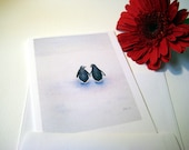 Peace, Love, and Penguins Note Cards - Set of 10 Cards with Envelopes - Valentine's Day card for her or for him
