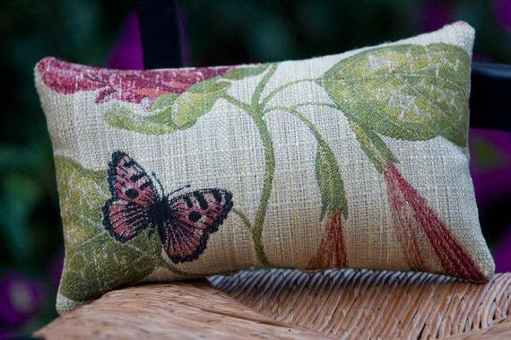 Butterfly Pillow - Linen - Very Unique