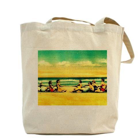 Beach Wedding Bridesmaid Gifts Beach Bag I By VintageBeach