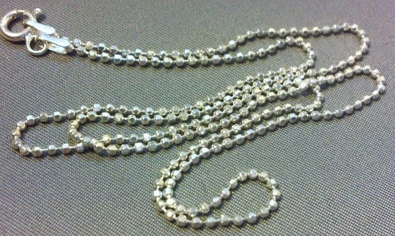 Sterling Silver 16-24 Inch (You Choose the Length) Diamond Cut Ball Chain