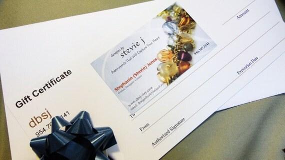 Gift Certificate 100.00 - Layaway - for dbsj - designs by Stevie j