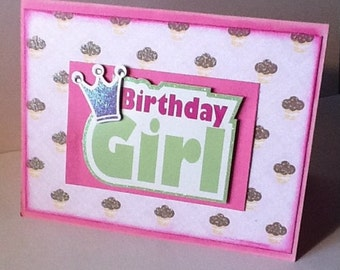 Birthday Card girl