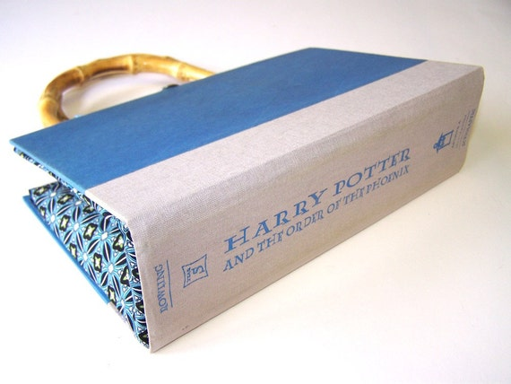 Harry Potter Book Cover Fabric : Book purse made from harry potter cover