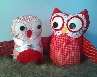 Sweetheart Owls 2 Adorable Valentine Owl Dolls