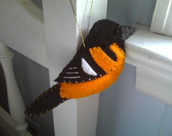 Baltimore Oriole Felt Ornament