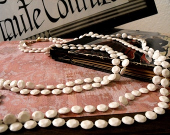 Vintage White Necklace Convertible to Choker Bracelet