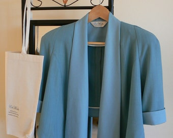 Unique Jacket. Blue teal. FREE SHIPPING! Simply enter coupon code FREESHIPPING11 at checkout.
