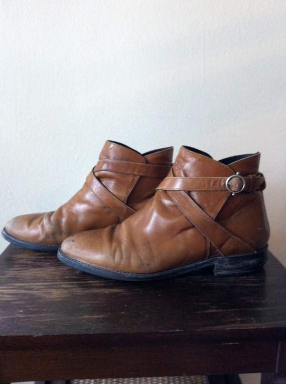 Distressed Wheat Polo Ankle Boots Ariat Women's Size 9
