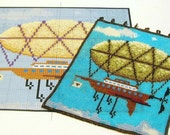 Pattern--Airship Beaded Tapestry for Square Stitch
