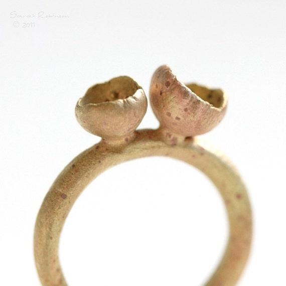 T11 Brass Organic Ring