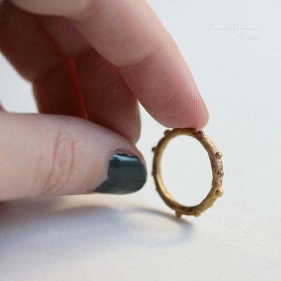 Golden Ring Little Bubbles T9 Textured Brass